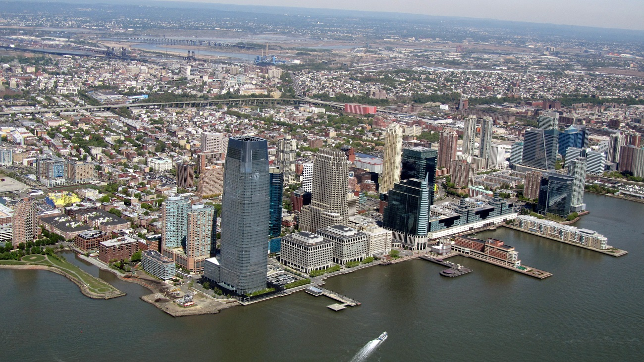 Jersey_City_from_a_helicopter